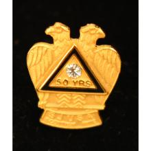 14k Monogrammed Masonic Tie Pin