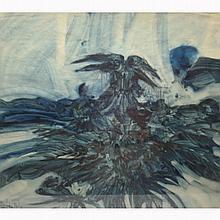 Robert Parker(1927) Abstract Watercolor