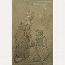 Antique Figural Drawing