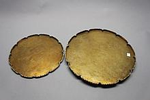 (2) Vintage Chinese Brass Dishes