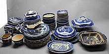 Lot of Blue Willow Porcelain