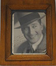 20th C Framed Photograph of Maurice Chevalier