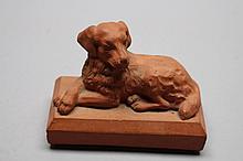 Vintage Terracotta Dog