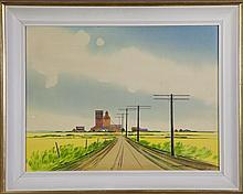 ROBERT NEWTON HURLEY - Untitled (Prairie Scene)