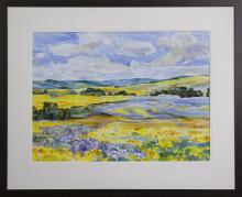 DARLENE HAY - Canola and Flax Mixed by Lake