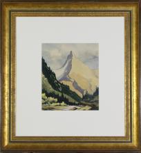 ARTHUR MCKAY - Untitled (Mountain Landscape)