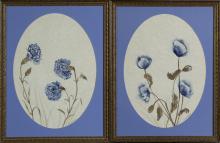 JUDY NIEBERGALL - Untitled - Pair of Flower Paintings