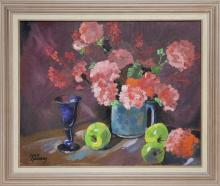 JOAN GALLOWAY - Untitled - Still Life with Flowers and Goblet