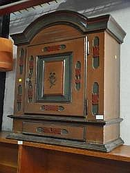 WALL CABINET - 19th Century Oak