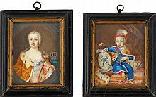 Zwei Miniaturporträts
