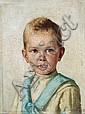 Monogrammist L.R.R., Portrait des jungen William Charles Knoop. 1889.