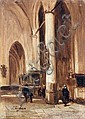 Johannes Bosboom, Kircheninterieur. Mid 19th cent.