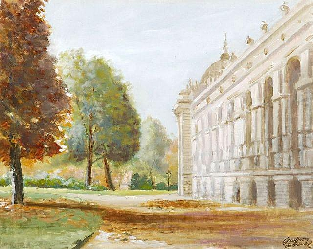 Denis Geoffroy-Dechaume, Paris - Grand Palais im Herbst. Late 19th cent.