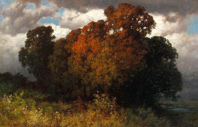 Hermann Traugott Rüdisühli, Symbolistische Herbstszene. Um 1898.