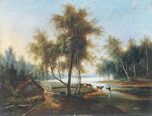 ? Achilles, Rastende Hirten mit ihren Kühen. 1873.