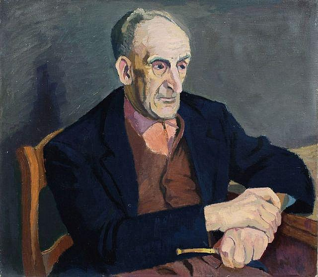 Christian Butter, Bildnis eines älteren Herren. Um 1960.