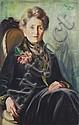 Paul Oberhoff, Portrait einer älteren Dame. 1928.