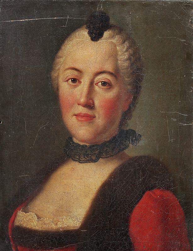 Pietro Antonio Rotari(Umkreis), Bildnis der Maria Antonia von Sachsen, Gattin des Kurprinzen Friedrich Christian, geb. Prinzessin von Bayern. Um 1755.