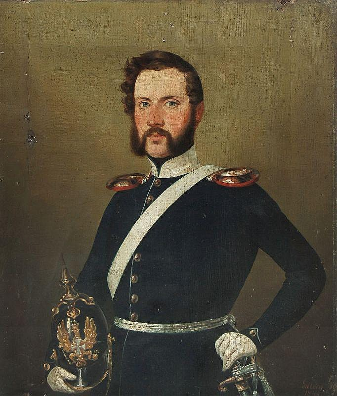 Józef Edward August Gillern, Portrait eines Offiziers. 1845.