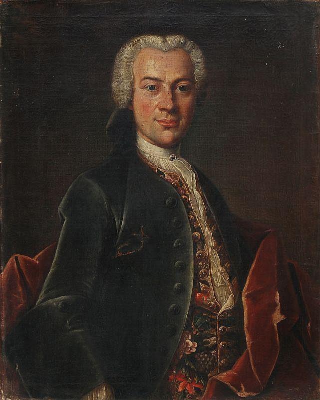 Unbekannter Künstler, Bildnis des Friedrich Philipp Lingke. 2nd half 18th cent.