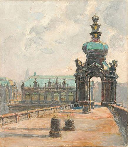Walter Friederici, Dresden - Kronentor. Um 1900.