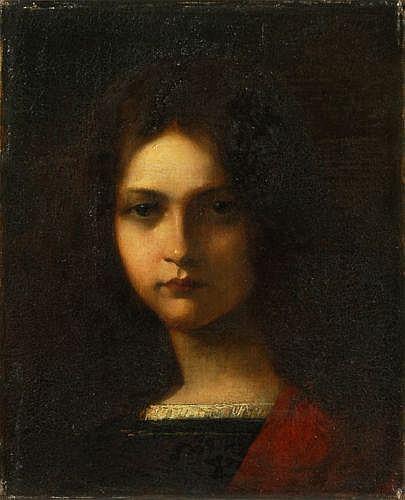 Franz Eduard Meyerheim (zugeschr.), Bildnis eines Mädchens. 3th quarter 19th cent.