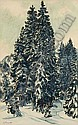 Erich Fraaß, Schneebedeckte Bäume.