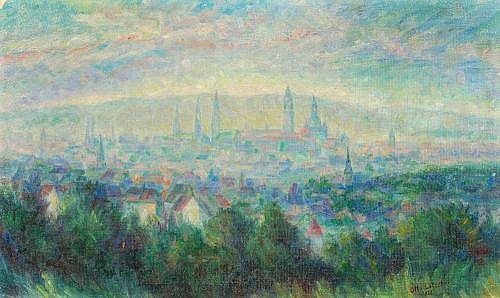 Otto Lötscher, Dresdner Stadtsilhouette. 1923.