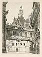 E. C. Hoffmann, Dresden - Fürstengang Katholische Hofkirche. Um 1900.