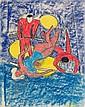 Rudolf Möller, Drei Artisten auf Blau.