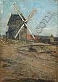 Max Merker, Windmühle bei Zernikow. Wohl um 1880.