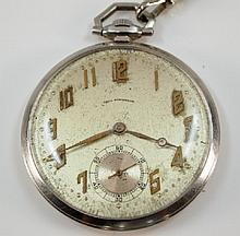 P Ditisheim Platinum pocket watch