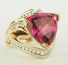 Ladies Tourmaline and Diamond ring