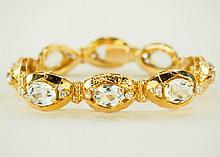 Ladies Aquamarine bracelet