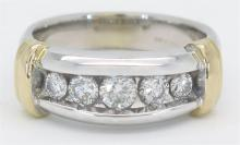 0.75ctw Diamond Ring - 14K Two-Tone Gold