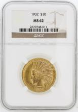 1932 NGC MS62 $10 Indian Head Eagle Gold Coin