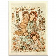 Family in the Field by Hibel