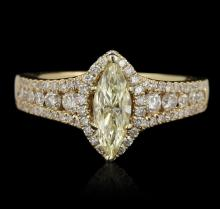 14KT Yellow Gold 1.48ct GIA Certified Diamond Unity Ring