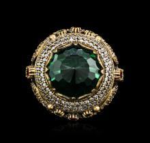 SILVER 38.8ctw Multicolor Gemstone Ring