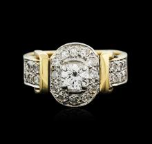 14KT Two-Tone Gold 0.90ctw Diamond Ring