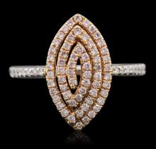 18KT Two-Tone Gold 0.39ctw Diamond Ring