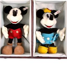 Steiff Stuffed Mickey & Minnie Dolls