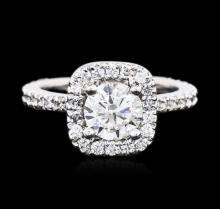 Platinum 1.69ctw Diamond Ring