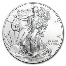 2014 American Silver Eagle Dollar Gem BU Coin