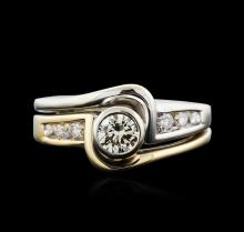 14KT Two-Tone 0.56ctw Diamond Ring