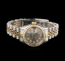 Ladies Rolex Two-Tone Diamond DateJust Wristwatch