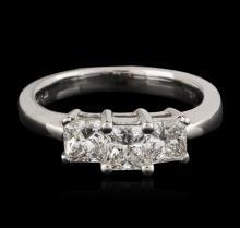 14KT White Gold 0.98ctw Diamond Ring