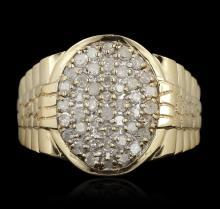10KT Yellow Gold 0.75ctw Diamond Ring