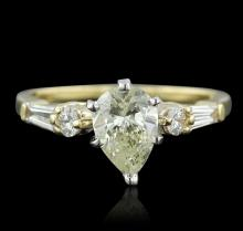 14KT Yellow Gold 1.17ctw  Pear Cut Diamond Ring