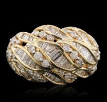 14KT Yellow Gold 0.51ctw Diamond Ring